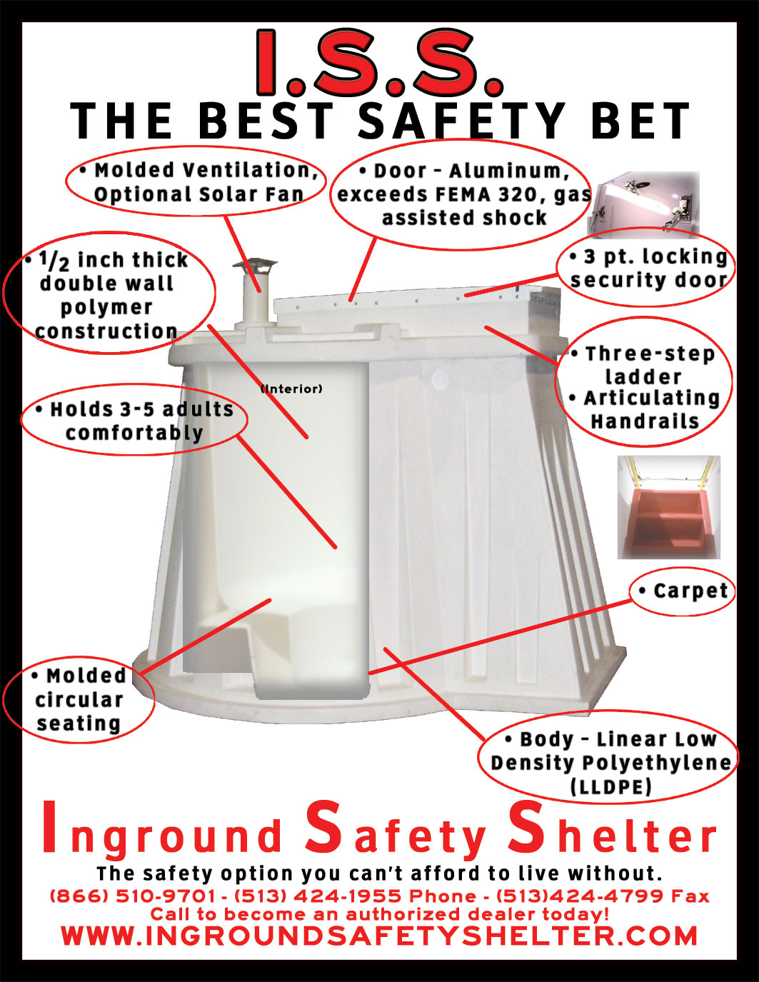 Storm Shelters, Tornado Shelters, Granger ISS, Underground Shelters